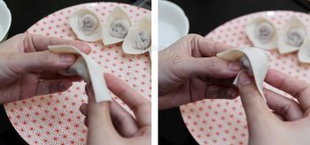 Wrapping wontons, bonnet-style: creating the bonnet