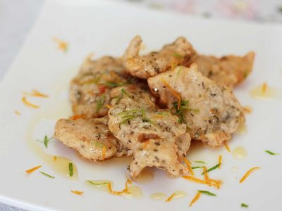 Fried Fish with Lime Orange Sauce