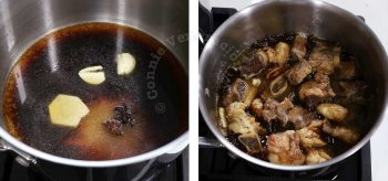 Making sauce for beef pares
