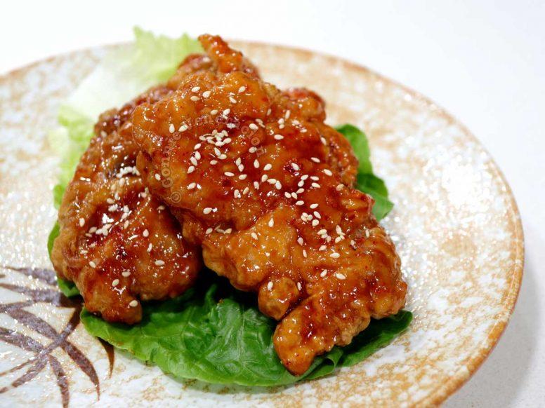 Bonchon-style fried chicken