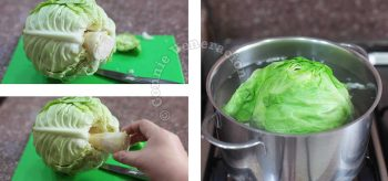 How to core cabbage and how to cook cored cabbage