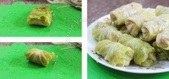 How to wrap and roll stuffed cabbage leaves