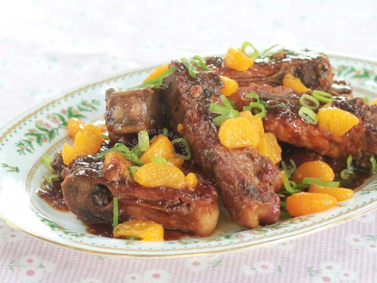 Mandarin Pork Ribs in Serving Platter