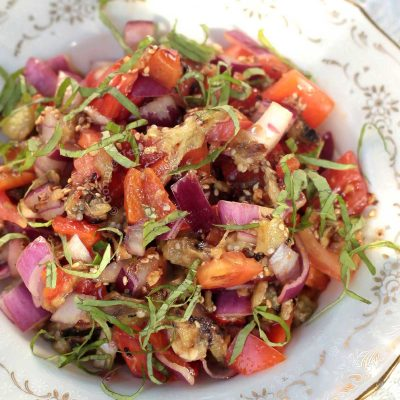 Grilled Eggplant with Sesame-soy Dressing