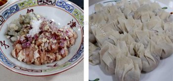 Dumplings with chicken and shrimps
