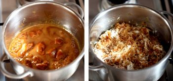 Palm sugar and grated coconut