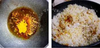 Sauteeing spices in oil before adding rice