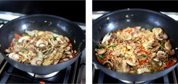 Cooking Soy Calamansi Noodle Stir Fry in a Wok