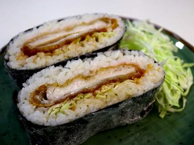 Chicken Tonkatsu Onigirazu (Crispy Chicken and Rice Sandwich)