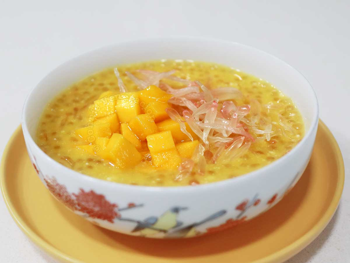 Homemade mango pomelo sago