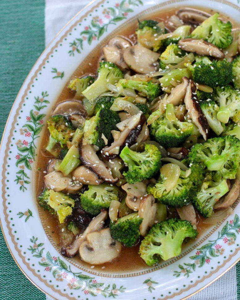 Mushrooms and Broccoli Stir Fry