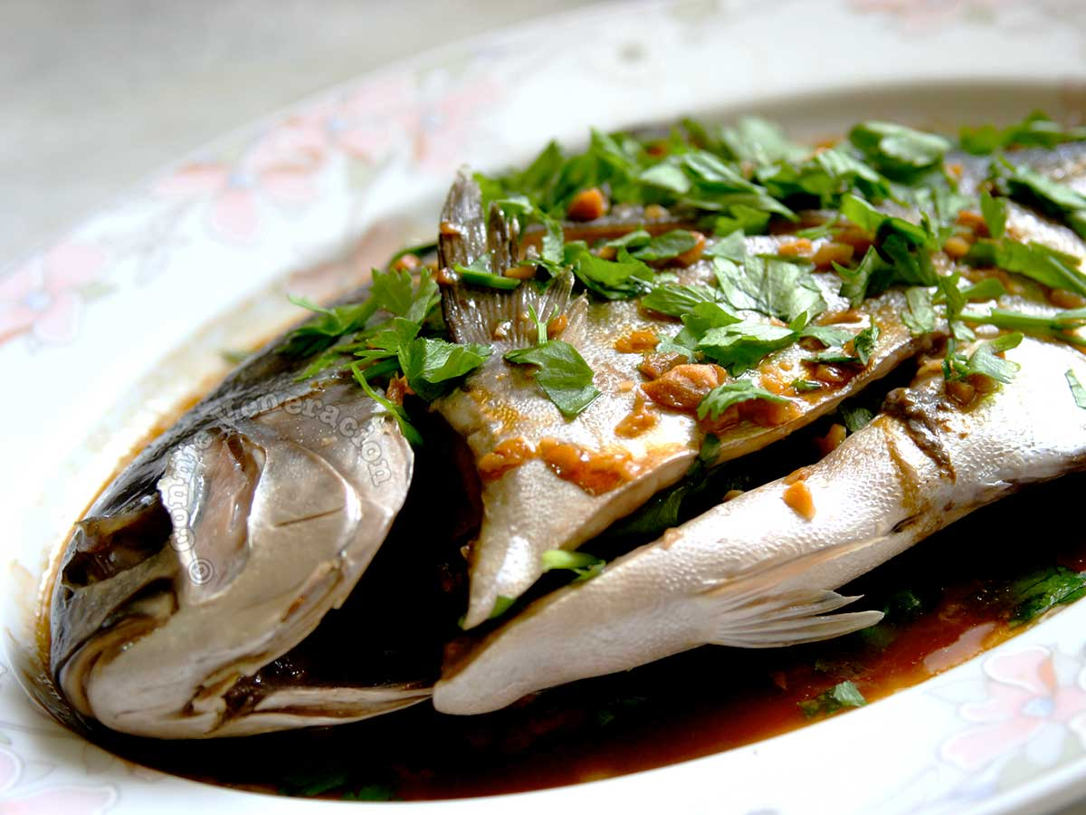 Steamed Pompano With Ginger Sauce