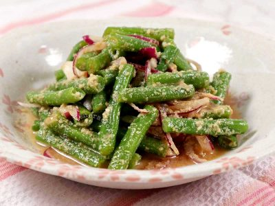 Japanese Green Beans with Sesame Vinegar Sauce