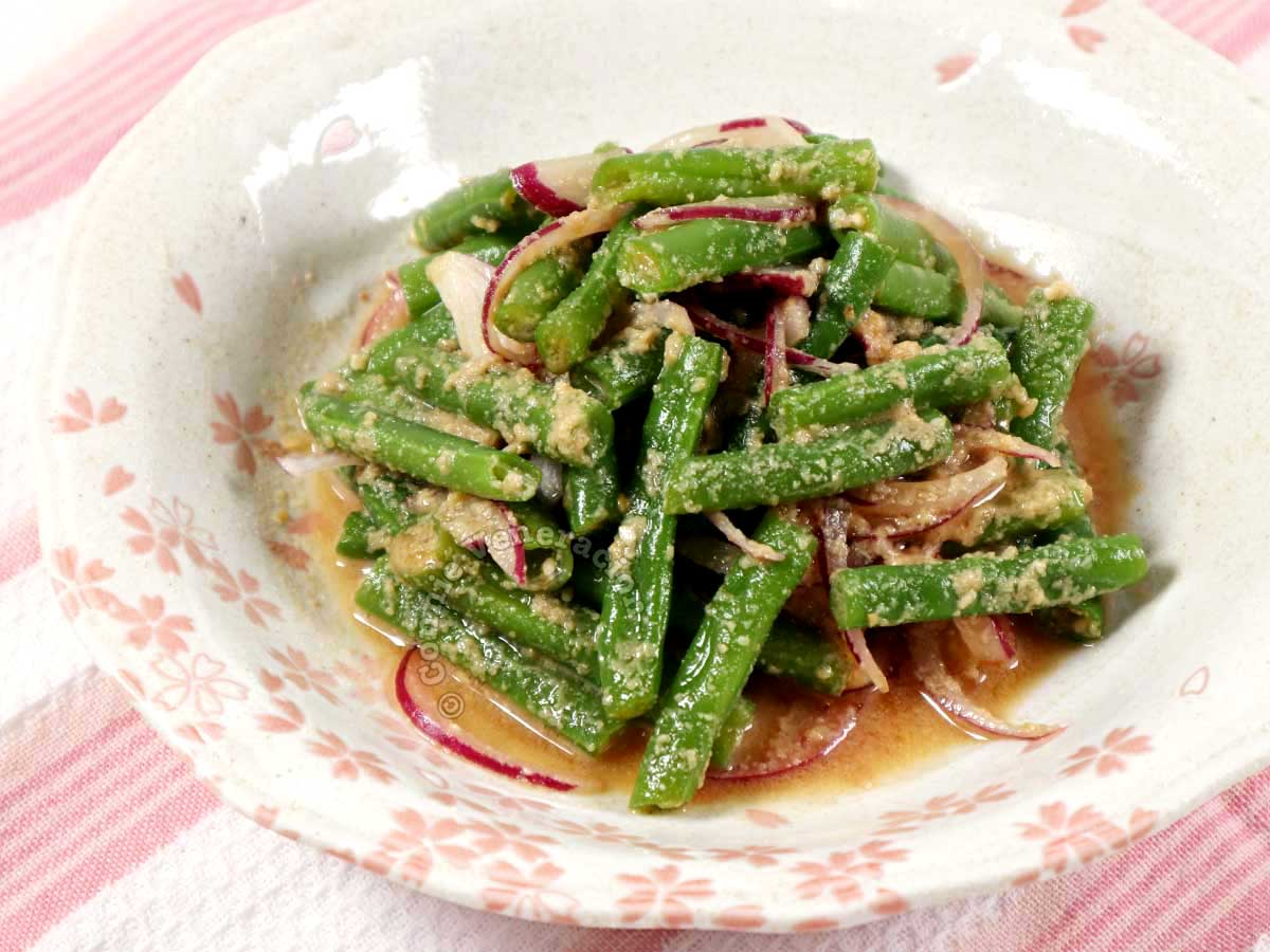 Japanese Green Beans with Sesame Dressing