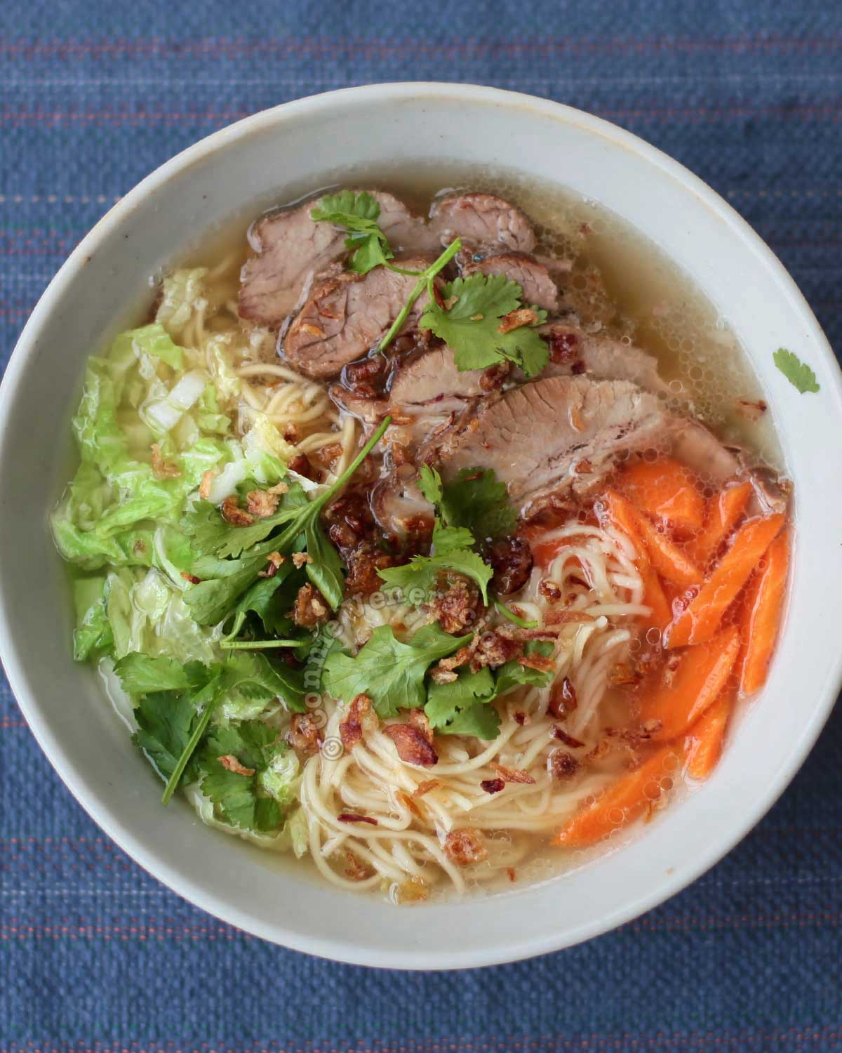 Pork mami, the Filipino version of Chinese noodle soup