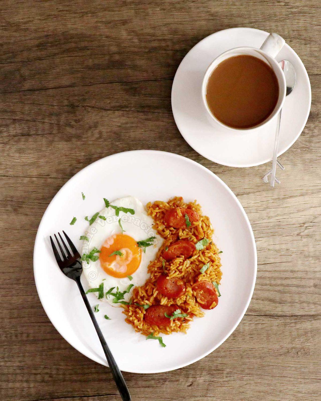 Chosilog (Chorizo, Garlic Fried Rice and Egg) with Coffee on the Side