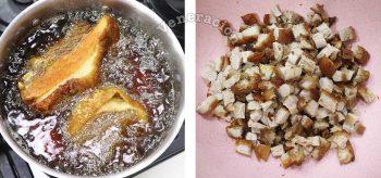 Frying pork belly